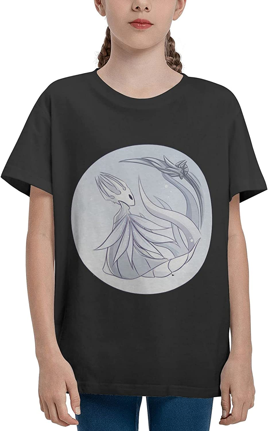 AROPEARTY Hollow Knight Teenage T-Shirt Girl Cotton Shirt Summer Casual Short Sleeves Tee
