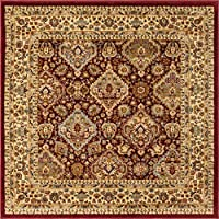 Unique Loom Voyage Traditional Oriental Classic Square Rug, 4ft 0 x 4ft 0, Red/Ivory 商品カテゴリー: ラグ カーペット [並行輸入品]