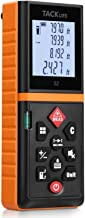 Tacklife Advanced Laser Measure 196 Ft Digital Laser Tape Measure with Mute Function Laser Measuring Device with Pythagorean Mode, Measure Distance, Area and Volume Black&Orange