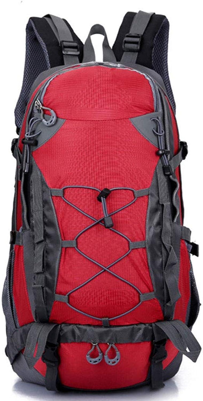 HAOHAOWU Bergsteigenbeutel Im Freienrucksack Mnnlicher Rucksack Weiblicher Groer Kapazitt Bergsteigenreisetasche Wasserabweisender Leichter Rucksack 50L