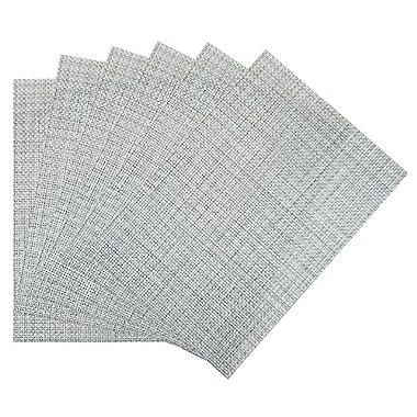 Benson Mills Longport woven Vinyl Placemat (Set of 6), Ice, 13 x 18