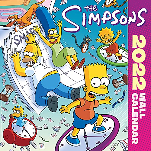Official The Simpsons 2022 Calendar – Month To View Square Wall Calendar