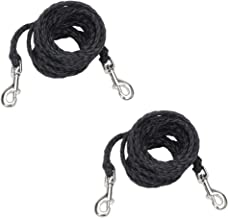 Coastal Pet Poly Big Dog Tie Out with Nickel-Plated Swivel Snaps   20-Feet, Black   2-Pack