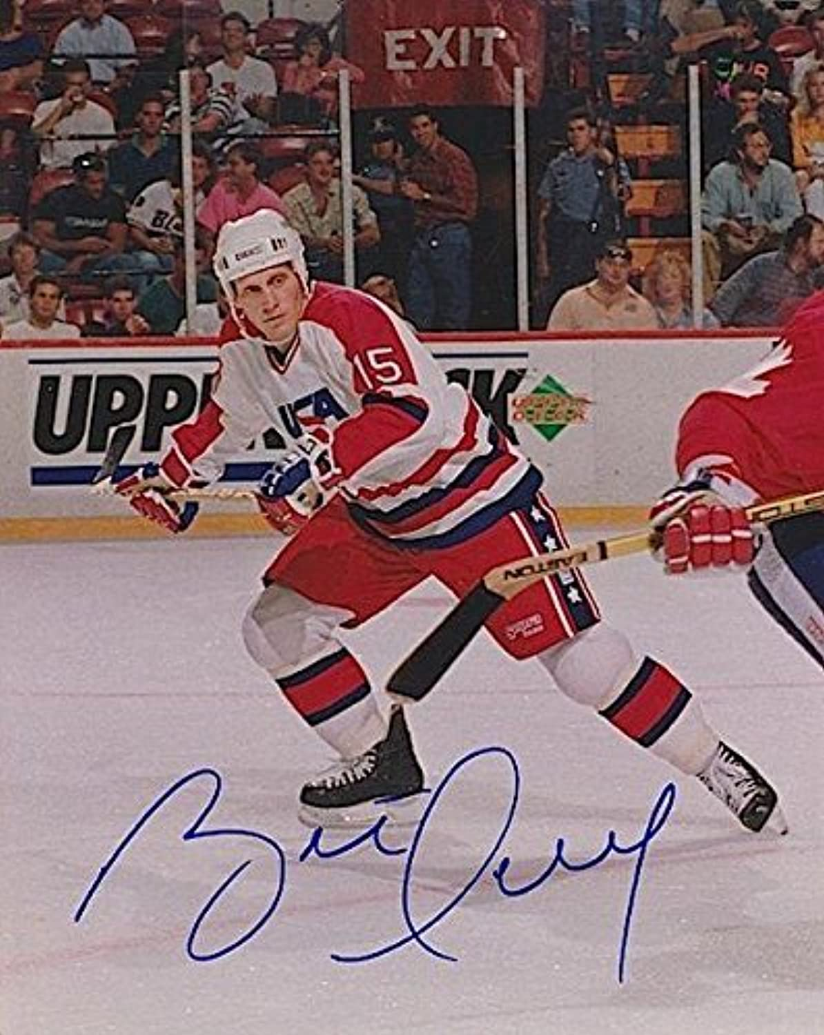 Signed Brett Hull Picture  Team USA Olympic 8X10  Autographed NHL Photos