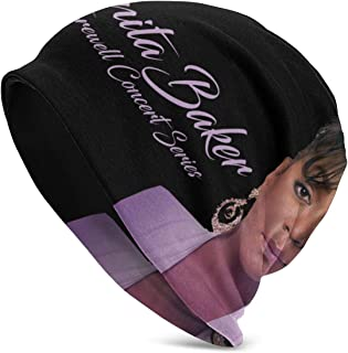 Fashion Anita Baker Adult Men's Knit Hat Pattern Baggy Cap Hedging Head Hat Top Level Beanie Cap