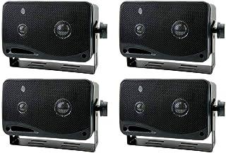 "4) New PYRAMID 2022SX 3.25"" 200w 3-Way Car Audio Mini Box Speakers System Inside photo"