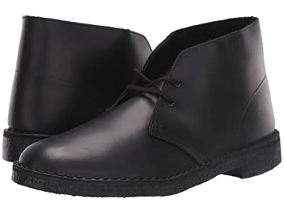 Clarks Desert Boot (Black Polished) Men