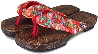 Womens Japanese Kimono Geta Sandals Shoes Slippers Clogs