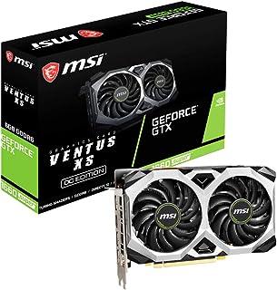 MSI Geforce GTX 1660 SUPER VENTUS XS OC - Tarjeta gráfica (6 GB GDDR6, 192 bit, Boost: 1815 MHz, DisplayPort x 3, HDMI 2.0...