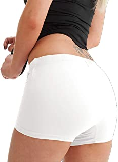 Womens Stretch Elasticated Plain Hot Pants Shorts Ladies Girls Dance Gym Shorts Ladies Hot Pants Sexy Knickers Yoga Cycle ...