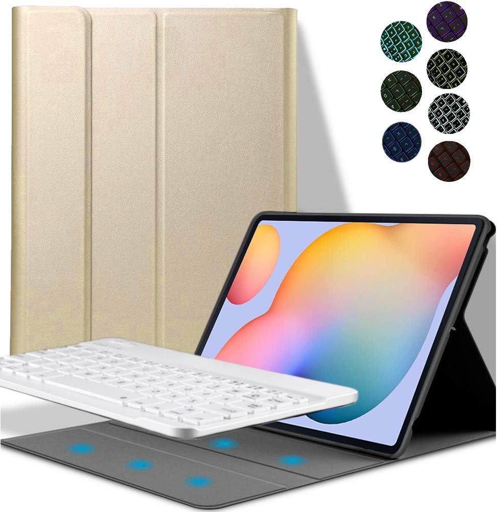 7 Colors Backlit Ultra Slim Flip Detachable Wireless Keyboard ...