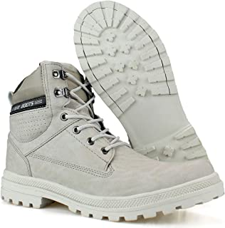 Bota Way Boots Casual Masculina Cano Médio Off White
