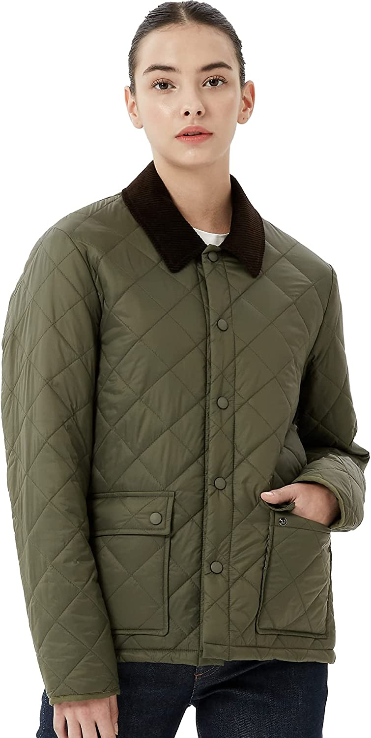 OFF THE DOOR Outlet sale feature Womens Lightweight Quilted All items free shipping Jacket with Cord Diamond
