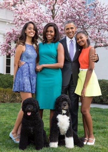 ConversationPrints Obama Family Glossy Poster Picture Photo President Barack Michelle Kids
