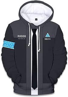 VOSTE Become Human Hoodie 3D Printed Hooded Pullover Sweatshirt Copslay Jacket Cap T-Shirt Wig