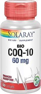 Solaray Bio CoQ-10 60 mg   Enhanced Absorption   Vitamins A & E   Healthy Heart & Cellular Energy Support   60 Softgels