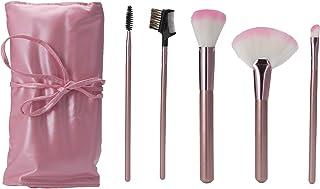 22 pcs Professional Makeup Brush Set Cosmetic Brush Kit Makeup Tool Nylon Make up Brushes with Pink Roll up Leather PU Bag