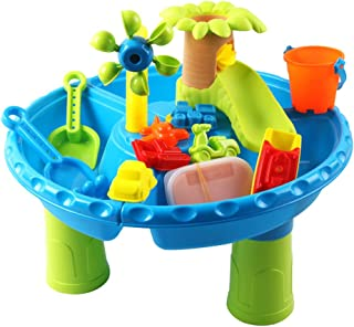 NC Water Table for Toddlers 1-3, Kids Sand and Water Table , 4 in 1 Summer Sensory Table Beach Sand Toys Outdoor Water Tab...