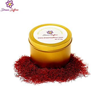 DREAM SAFFRON Persian Organic Saffron Threads Only Red Stigma Of Crocus Sativus No Pollen No Style Strong Color And Aroma - Premium Gourmet Quality Sunshine Spice With Great Health Benefits (20)