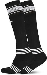 Vector X Unisex Adult FIZER 2- Pair Soccer Socks - Black, One Size