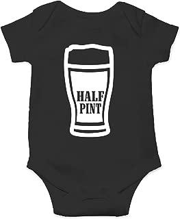 Half Pint - Locally Brewed - Daddy's Drinking Buddy - Cute One-Piece Infant Baby Bodysuit