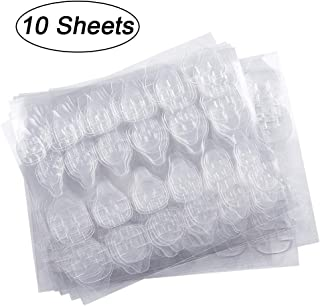 10 Sheets (240pcs) Double-side Nail Glue Sticker, Kalolary False Nail Glue Jelly Gel Tape Adhesive Tabs Nail Glue Transparent Flexible Adhesive Fake Nails Tips for Manicure
