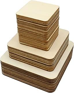 HEALLILY 300 Piezas Recortes de Madera para Manualidades Tri/ángulo Recorte de Madera Pintura sin Terminar Piezas de Madera Rebanadas con Orificios Adornos Colgantes 10 Mm