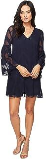 Donna Morgan Women's Bell Sleeve Chiffon Jacquard Tent Dress