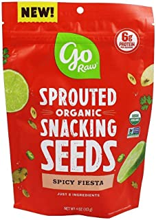 Go Raw, Spicy Fiesta Sprouted Snacking Seeds, Organic, 4 Oz