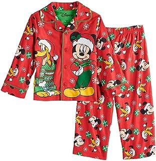 3fdd08b4e8 Disneys Mickey Mouse   Pluto Toddler Boy Holidays Christmas Top   Bottoms  Pajama ...