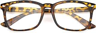 Mimoeye Oversized Blue Light Filter Glasses Square Frame for Women Men with Non-Prescription Clear Lens Anti Eye Strain