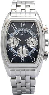 [エルジン]ELGIN 腕時計 エレガントクロノグラフ 日本製ムーブメント オールステンレス トノーカーヴェックスタイル ブルー FK1403S-BL メンズ