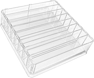 Perfeclan 8 Spaces Compact Powder Organizer for Lipsticks, Blushes, Eyeshadow, Makeup Organizers and Storage, 24.8x24x6.8 cm