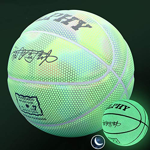 Buy Bargain YZPXDD Light Up Basketball, Luminous Basketball Night Game Street PU Glowing Rainbow Lig...