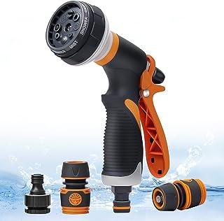 Teenie Garden Hose Spray Gun Set, High Pressure Garden Hose Nozzle, Spray Nozzle with 8 Adjustable Patterns Perfect for Wa...