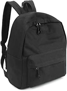 Zicac Unisex DIY Canvas Backpack Daypack Satchel for Man and Women (Black)