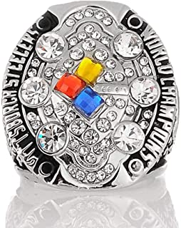 Gloral HIF Pittsburgh Steelers Super Bowl Championship Replica Ring 2008 Rings Without Box