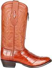 Genuine EEL Cognac Round Toe Los Altos Men's Western Cowboy Boot 650803