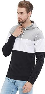 LEWEL Men's Cotton Hooded Sweatshirt