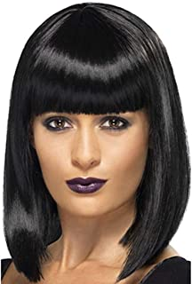 Short Bob Wig 13 Inches Straight Synthetic Hair Wigs for Women - Black