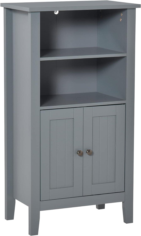 kleankin Latest item Bathroom Cabinet Organizer with Shelves List price Open Do 2-Tier