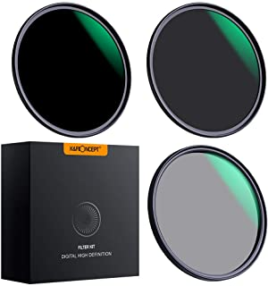 K&F Concept 49mm Lens Filter Set Neutral Density ND8 ND64 CPL Circular Polarizer for Professional Camera Lens with Multiple Layer Nano Coated