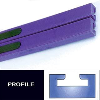 Profile #8 Teflon Slides - 47in. - Purple 1991 Ski-Doo Formula Mach 1 X Snowmobile