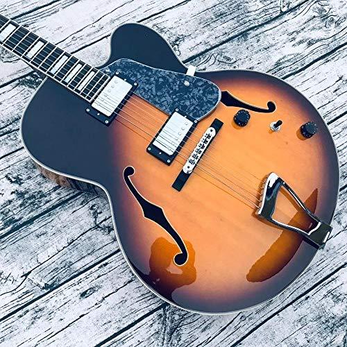 MLKJSYBA Guitarra Guitarra De Jazz Guitarra Eléctrica Vintage Guitarra Eléctrica Acústico Acústico...