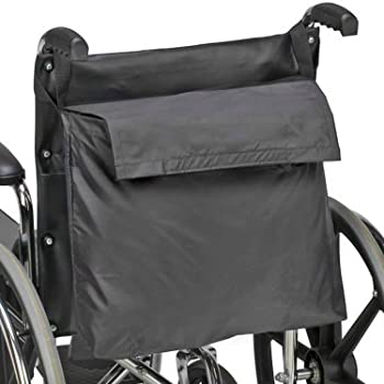 DMI Wheelchair Bag Provides Storage Area with Easy Access Pouch and Pockets, Flexible Straps Allow for Easy Install, ...