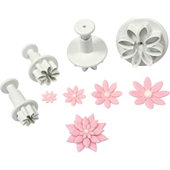 PME Plunger Cutters, Daisy, 4-Pack