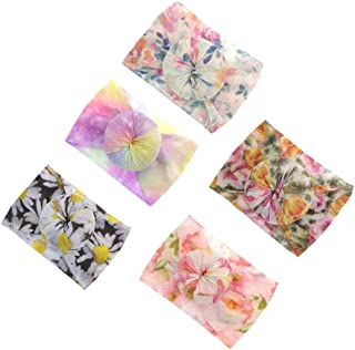 Newest Baby Headbands Circle Turban Knotted Bows Soft Silk Nylon Headwraps For Newborn Infant Toddlers Girl Kids