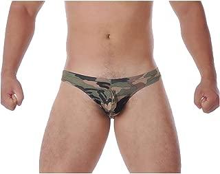 S Forever Men's Sexy Camo Bikini Underwear Low Rise Camouflage Briefs
