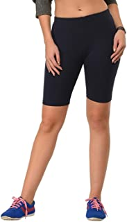 Women's/Girl's Cotton Lycra Cycling Short/Yoga Pant/Jogging Pant,Free Size,Black