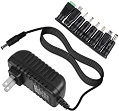 Universal AC to DC 5V 2A/2000mA Power Supply Cord Adapter Charger with 8 Variable Plug Tips (Include 5.5mm / 3.5mm / Mini USB/Micro USB / 4.7mm Switching Connector)